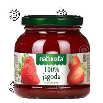 100% Strawberry jam 215g