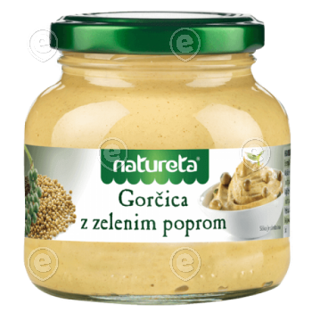 Mustard with green pepper 200g