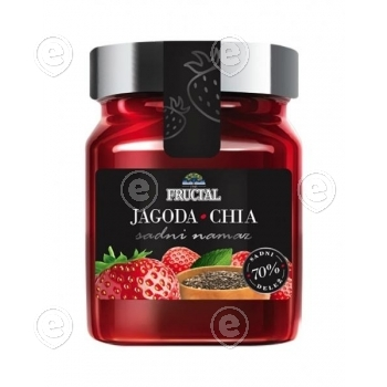 Strawberry with chia seeds jam  330g