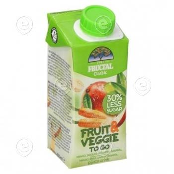 """Fruit & Veggie"" mango, porgandi, õuna ja banaaninektar 200ml"