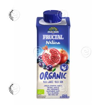 100% orgaaniline mahl granaatõun, mustsõstar, õun, viinamari 200 ml suhkruroost pakendis