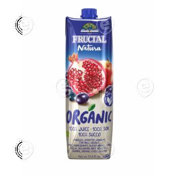 100% orgaaniline mahl granaatõun, mustsõstar, õun, viinamari 1L ( pakend valmistatud taimedest)