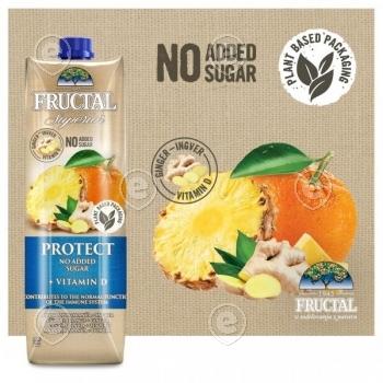 Ananassi-apelsini-ingveri mahl D-vitamiiniga taimedest valmistatud pakendis, Superior Protect 1l
