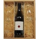 Kinkekarbis (puidust) Lavrenčič Rebula Classic ehk oranž vein klaasidega