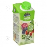 """Fruit & Veggie"" Strawberry, banana, dewberry, red beet juice 200ml"