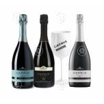3 sparkling wine + gift