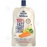 100% Fast Fruit Veggie  apple-banana-carrot-orange
